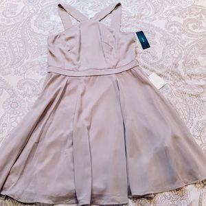 Lulu's Gray Fit & Flare Dress